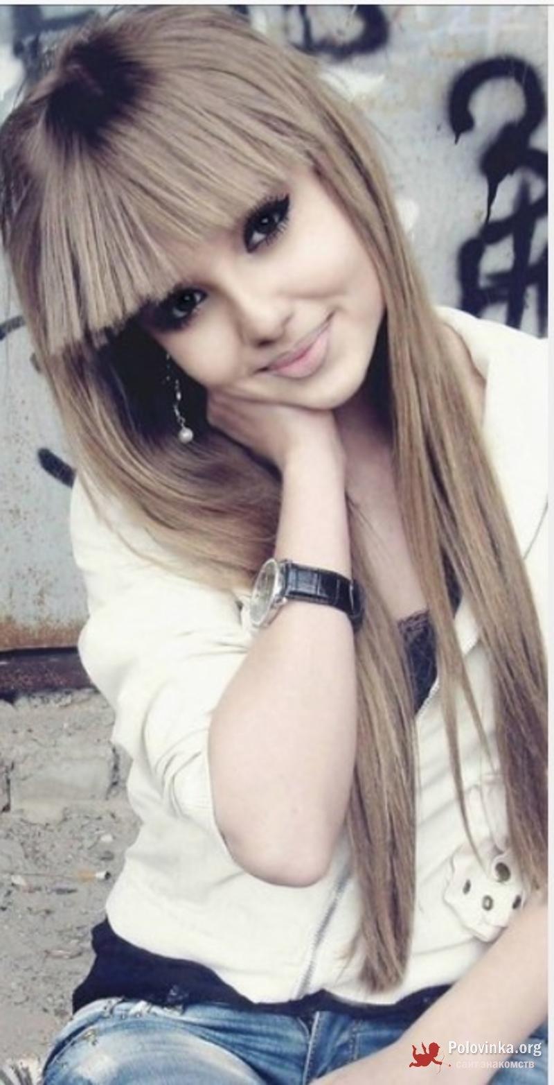 Фото красивых девушек на аву с чёлкой